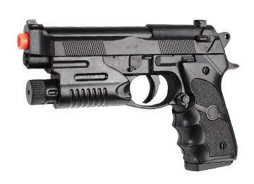 Spring Tactical 190 FPS Police Airsoft Pistol w/ Laser
