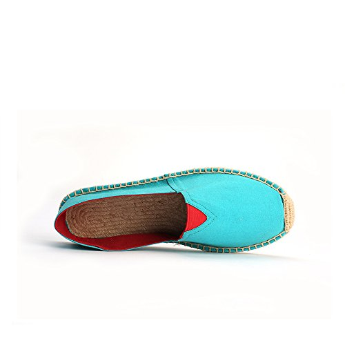 Alexis Leroy Mens Original Blue Canvas Espadrillas Flat Blue
