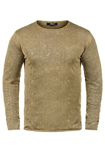 over Kirisaku Homme Pull Dune solid Rond 100 Pull Coton Tricot Encolure Maille 5409 En FwxX007dq