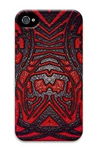 Abstract Red and Pattern Customized Hard Shell 3d iphone 4/4s Case By Custom Service Your Perfect Choice