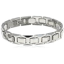 "Men's Tungsten High Polish Link Bracelet, 8.62"""