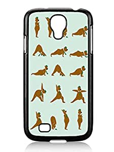 Popular Design Yoga Bear Cute Samsung Galaxy S4 I9500 TPU Black Phone Case