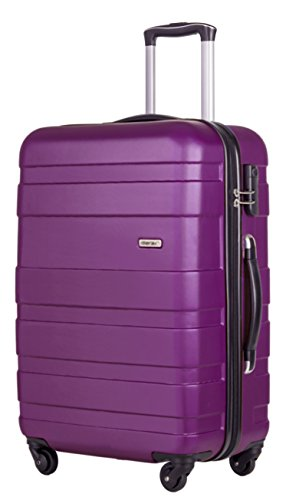 Merax Afuture 20 24 28 inch Luggage Lightweight Spinner Suitcase (24, Purple)