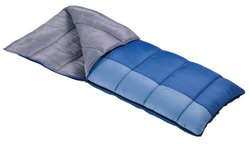Wenzel Lakeside 40-Degree Rectangular Sleeping Bag (Blue/Light Blue), Outdoor Stuffs