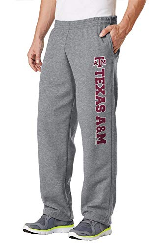 Elite Fan Shop Texas A&M Aggies Fleece Pants Captain Gray -