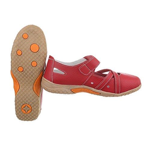 Zapatos para mujer Zapatos de tacon Plataforma Cuñas Ital-Design Rojo 5806-1
