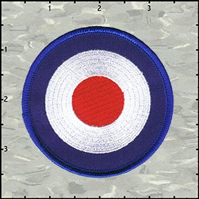 Mod Target Embroidered Iron On Applique Patch FD - 3 INCH