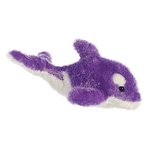 "8"" Mini Flopsie Sealife Brights - Purple Orca Whale Soft Stu"
