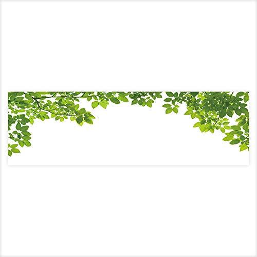 (Auraisehome Fish Tank Background Green Leaves Border PVC Aquarium Decorative Paper 35.4