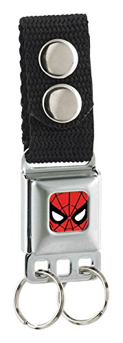 Spider-Man Face CLOSE-UP Full Color - Seatbelt Buckle Keychain