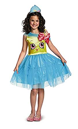 Onceuponasale Shopkins Queen Cupcake Deluxe Costume Girls Med 7-8 Dress Up Halloween Play