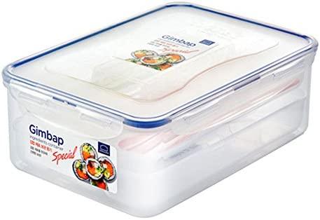 kimbap material de almacenamiento contenedor blanco 2Set/regalo ...