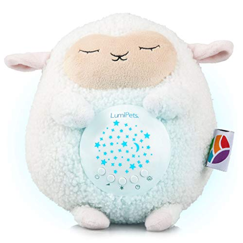 (Baby White Noise Machine Music soothers for Sleep: Lumipets Night Light Projector and Sound Machine Baby Shusher Lamb Stuffed Animal Baby)