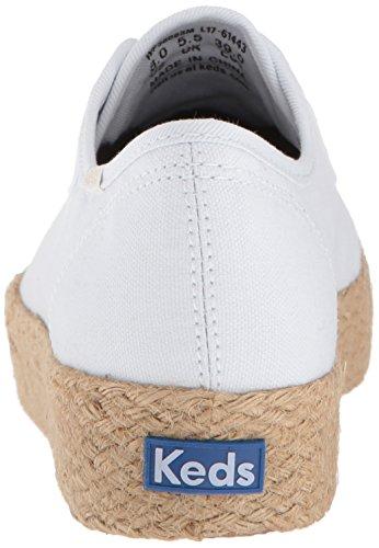10 Tpl Baskets Keds White white Blanc Jute Femme Kick PUTTS8