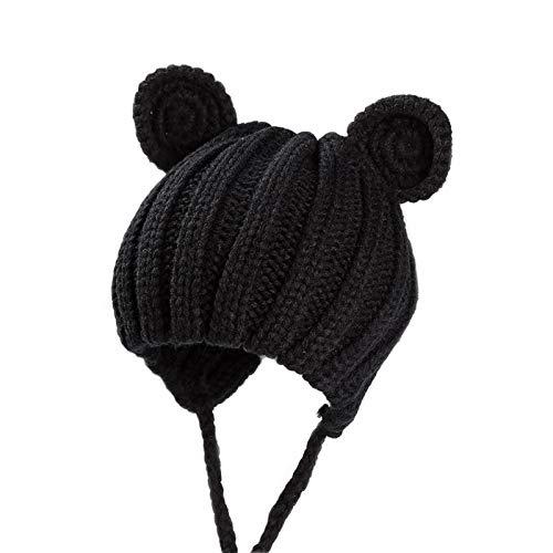 d1f57286c9a Supcibel Toddler Kids Crochet Beanie Hats Unisex Boys Girls Knitted Cartoon  Bear Caps Winter Cute Infant