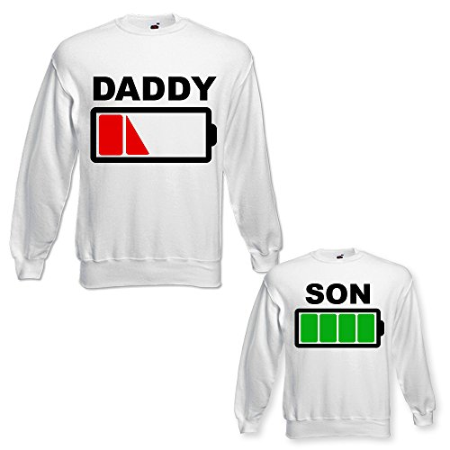 Grafica Scarico Di Bianche Figlio Papa' Il Per Idea Padre Regalo Felpe a Coppia Maschietto Daddy gFqOKawO