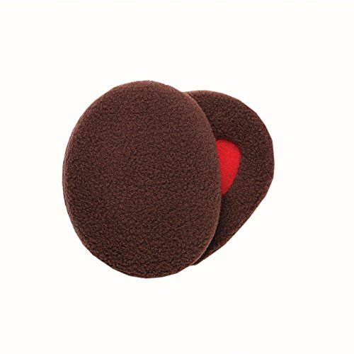 Viz Hi Earmuffs (Sprigs Earbags Bandless Ear Warmers/Fleece Earmuffs with Thinsulate - Brown, Medium)