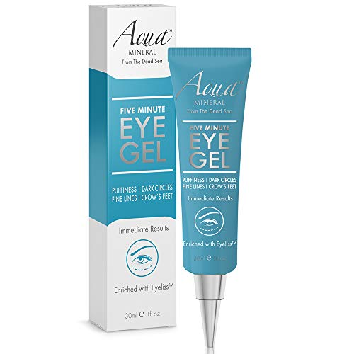 Puffy Eye GEL Instant results - Naturally rapid reduction eye gel, Eliminate Wrinkles, Puffiness and Bags - Hydrating Eye Gel w/Green Tea Extract by Aqua Mineral - 1 oz