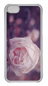 Case For Iphone 5/5S Cover Case, Personalized Custom Dew Rose Case For Iphone 5/5S Cover PC Clear Case
