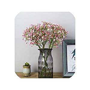 Vicky Artificial Baby's Breath Flower Simulation Gypsophila Fake Plastic Plant DIY Wedding Home Party Office Decor Art Floral 106