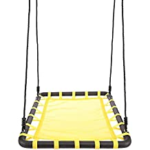"""FDegage Platform Monkey Tree Swing Giant Outdoor Web Swing Sets with Nylon Rope, 40"""" x 30"""" for Multiple Kids"""