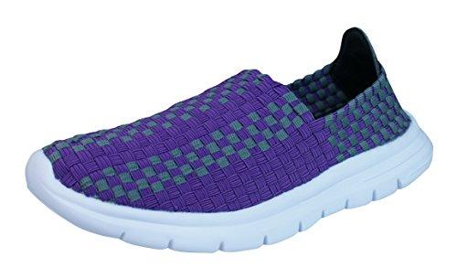 引き出し救出ブレーキAir Tech Pessoa Womens Slip On Wovenスニーカー/靴