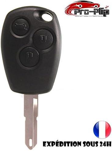 3 botones agujero para hoja Pro-Plip Laguna Carcasa para llave de Renault Megane Scenic Espace Trafic