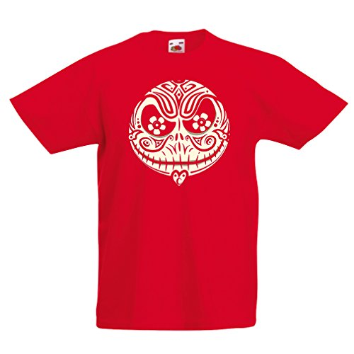 lepni.me Kids T-Shirt The Skull Face -The Nightmare - Scary Halloween Night (1-2 Years Red Multi -