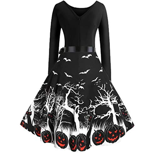 Costumes Columbia Mall - Aunimeifly Women Vintage Long Sleeve Dresses Evening Party Prom Gown Ladies Halloween
