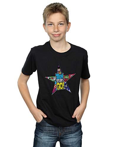 Logo Go Titans Teen T Star Dc Noir shirt Comics Garçon tIqwISY
