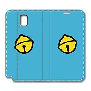 Brain114 Fashion Style Case Design Flip Folio PU Leather Cover Standup Cover Case with Yellow Bell Skin for Samsung Galaxy Note 3
