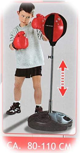 One Size Erwachsene Punchingball mit Boxhandschuhen und Pumpe HUDORA Unisex/