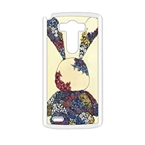 Cute rabbit dreessed flower cloth lovely personalized creative clear protective cell phone case for LG G3