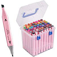 48-Count Tahenmaoyi Double Tipped Sketch Markers (Pink)