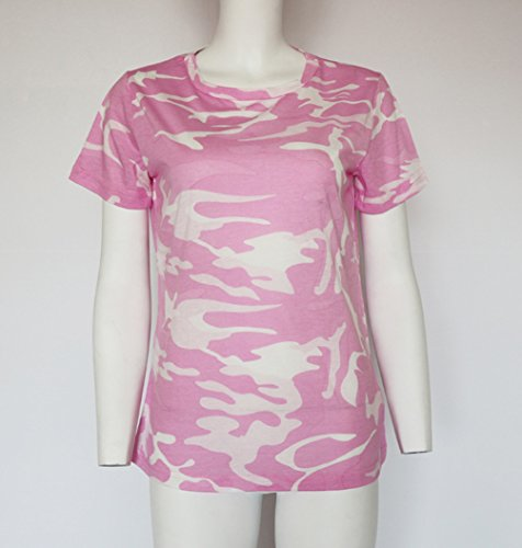ISSHE T Shirt Damen Rundhals T Shirts Kurzarm Oversize Frauen Sommer  Lockere T-Shirt Oberteil ... 5021733959