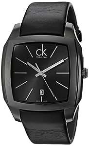 Calvin Klein Calvin Klein Recess K2K21402 - Reloj analógico de cuarzo para hombre, correa de cuero color negro