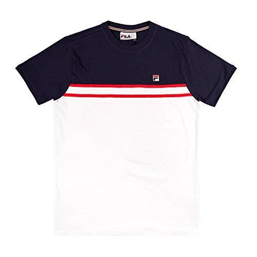 Baldi 684354 White Cut Sew Fila Canotte T E shirt Abd M Tee Uomo P5qEddw
