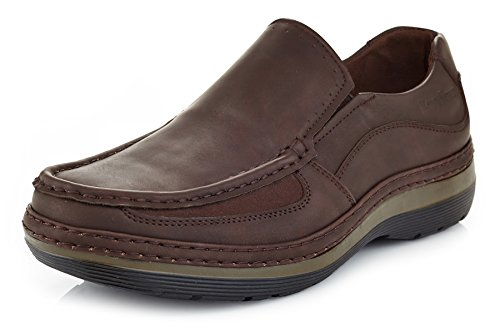 Solo Men's Brand Comfort Casual Slip on Work Shoe Parker 300 7.5 Coffee Brown by Unknown