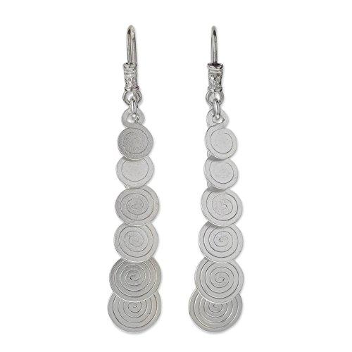 NOVICA .925 Sterling Silver Dangle Earrings 'Moving On'