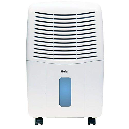 Haier 65-Pint Dehumidifier, White DE65EM-L (Renewed)