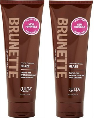 ULTA Brunette Color Enhance Glaze with Vibrant Color Complex. Sulfate Free 8 Oz. 2 Pack by Ulta