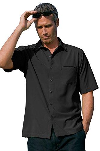 Vantage Men's Vansport Woven Camp Shirt, Black, 4XL