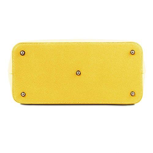Tuscany Leather TL Bag Borsa a mano in pelle Saffiano - TL141638 (Rosso Lipstick) giallo
