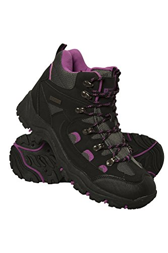 Mountain Warehouse Adventurer Womens Waterproof Boots - for Hiking Black Womens Shoe Size 6 US (Best Shoes For Mountain Hiking)