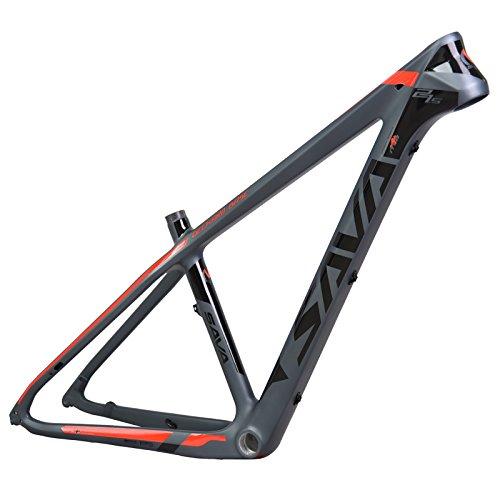 SAVADECK(サバデック) カーボンフレーム マウンテンバイクフレーム 自転車フレーム バイクフレーム 超軽量 T800炭素繊維 カーボンファイバーMTB自転車 BSA軽量 自転車パーツ フレーム B06XNMKH38レッド 15.5\