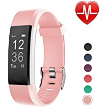 LETSCOM Fitness Tracker HR, Activity Tracker Watch with Heart Rate Monitor, Waterproof Smart Bracelet with Step Counter, Calorie Counter, Pedometer Watch for Kids Women and Men, Android & ios