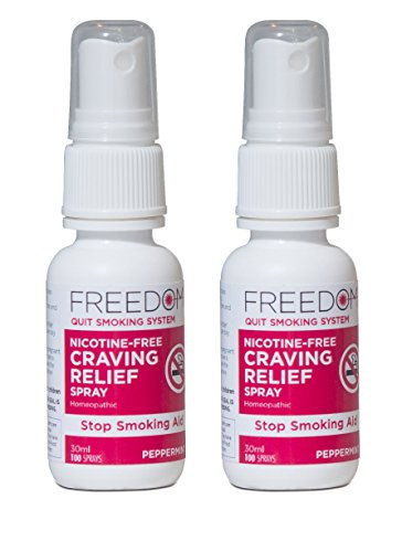 Quit Smoking, Craving Relief Spray - Nicotine-Free & All Natural - Reduce Cigarette Cravings, Fight Nicotine Withdrawal Symptoms, Quit Smoking Without Side Effects - Stop Smoking Aid, 1 Oz (2 Pack)