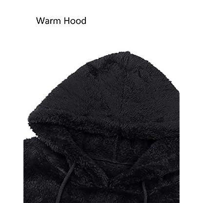 iWoo Men's Warm Fleece Hoodie Fluffy Pullover Viscose Sweater Sweatshirt with Two Pockets 6