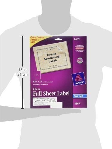 "Avery Matte Frosted Full Inkjet 8.5"" 11"", 25 Labels"