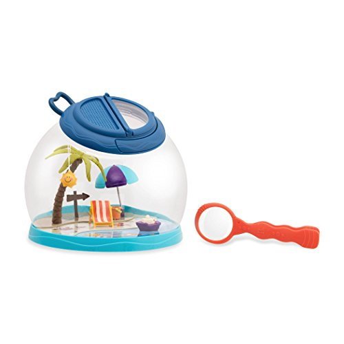 - B toys by Battat – Tiki Retreat Bug Catcher Kit – 1 Bug Cage with Tweezers and Magnifying Glass – Bug toys for kids 4+